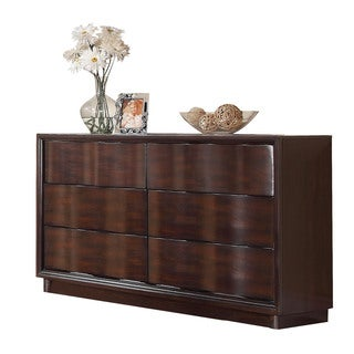 Acme Furniture Travell Walnut Six-Drawer Dresser