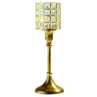 Elegance Square Crystal T-lite on Stand - Small