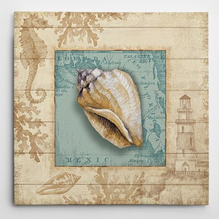 Wexford Home 'Beach Comber I' Wrapped Canvas