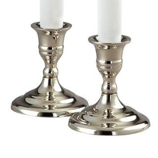 "Elegance Hampton Pair of Candlesticks, 3.5"" H"