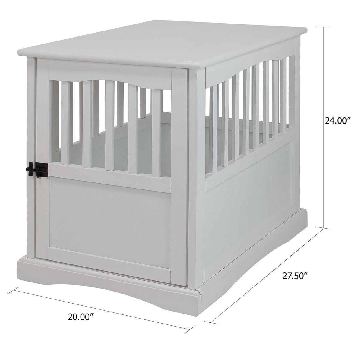 Wooden Pet Crate End Table (Small), White