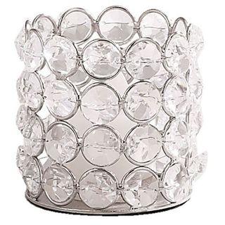 Elegance Sparkle Round Tealight Holder