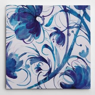 Wexford Home Nan 'Indigo Swirl I' Giclee Canvas Wall Art