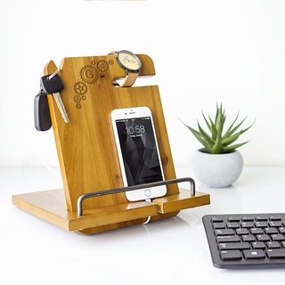Wooden Personalized Steampunk Docking Station