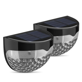 Solar Powered Weatherproof 6 LED Lamp (Set of 2)