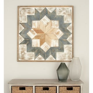Benzara 31-inch Wide x 31-inch High Wood Wall Art