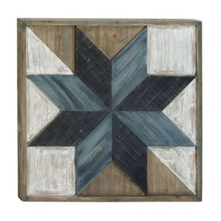 Benzara Multicolored Wood Wall Art