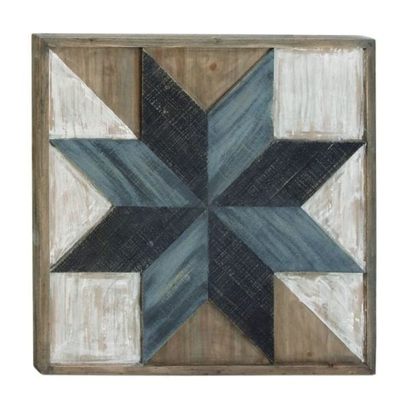 Benzara Multicolored Wood Wall Art