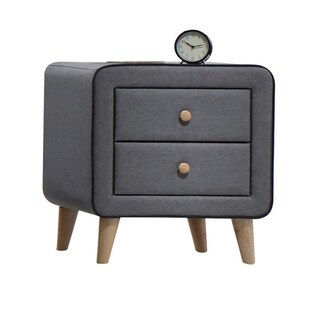 Acme Furniture Valda Light Grey Fabric 2-drawer Nightstand