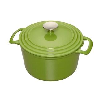 Cooks 7 Quart Green Enameled Cast Iron Dutch Oven
