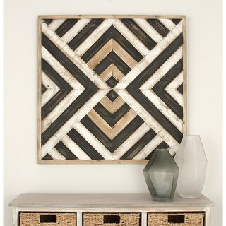 Benzara Wood 31-inch Modern Wall Art