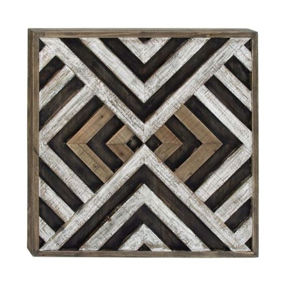 Shop Benzara Wood 31-inch Modern Wall Art - On Sale - Free Shipping ...
