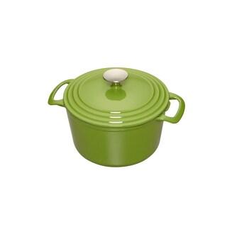 Cooks 3.5 Quart Green Enameled Cast Iron Dutch Oven