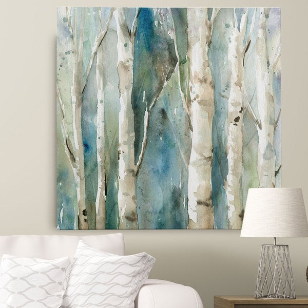 Shop Wexford Home Carol Robinson \'River Birch I\' Canvas Wall Art ...