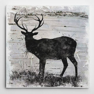 Wexford Home 'Birchbark Deer' Wrapped Canvas