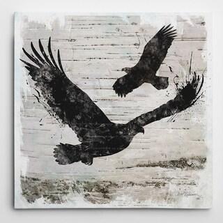 Wexford Home Carol Robinson 'Birchbark Eagle' Wrapped Canvas Art