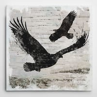 Wexford Home Carol Robinson 'Birchbark Eagle' Wrapped Canvas Art