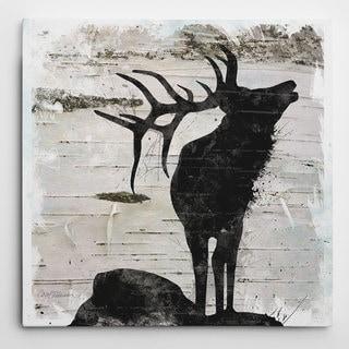 Wexford Home Carol Robinson 'Birchbark Elk' Wrapped Canvas