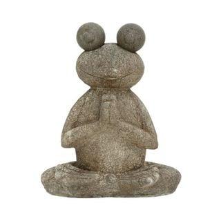 Benzara Polystone Frog Sculpture