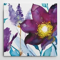 Wexford Home Nan 'Royal Blooms III' Gallery Wrapped Canvas