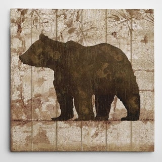 Picture It on Canvas 'Bear Crossing' Canvas Wall Art