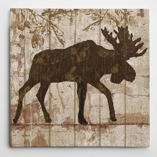 Wexford Home Nan 'Moose Crossing' Wrapped Canvas Art