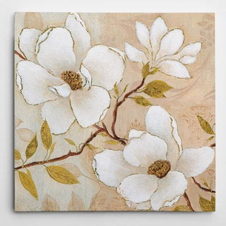 Wexford Home Carol Robinson 'Golden Dogwood II' Wrapped Canvas Art