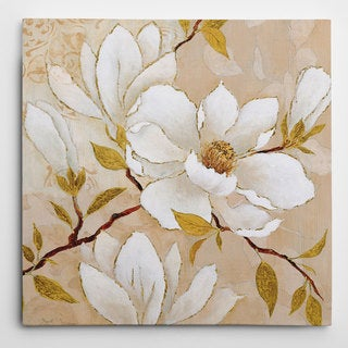 Wexford Home 'Golden Dogwood I' Premium Gallery-wrapped Canvas Wall Art