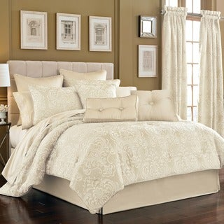 Five Queens Court Maureen Ivory Jacquard 4-piece Comforter Set