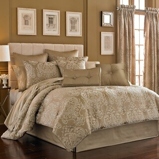 Five Queens Court Maureen Tan Woven Jacquard 4-piece Comforter Set