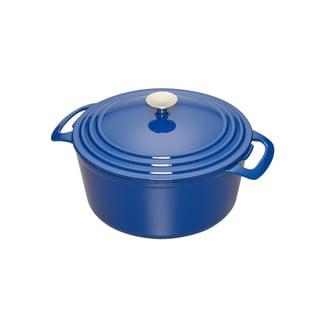 Cooks 5.5 Quart Blue Enameled Cast Iron Dutch Oven