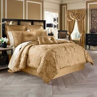 five queens court colonial woven jacquard 4piece comforter set