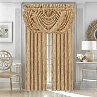 Five Queens Court Colonial Lined Woven Curtain Panel Pair with Tiebacks