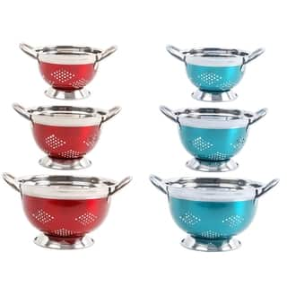 Oster Metal Colander Stainless Steel (3-piece Set)|https://ak1.ostkcdn.com/images/products/13219336/P19937367.jpg?impolicy=medium