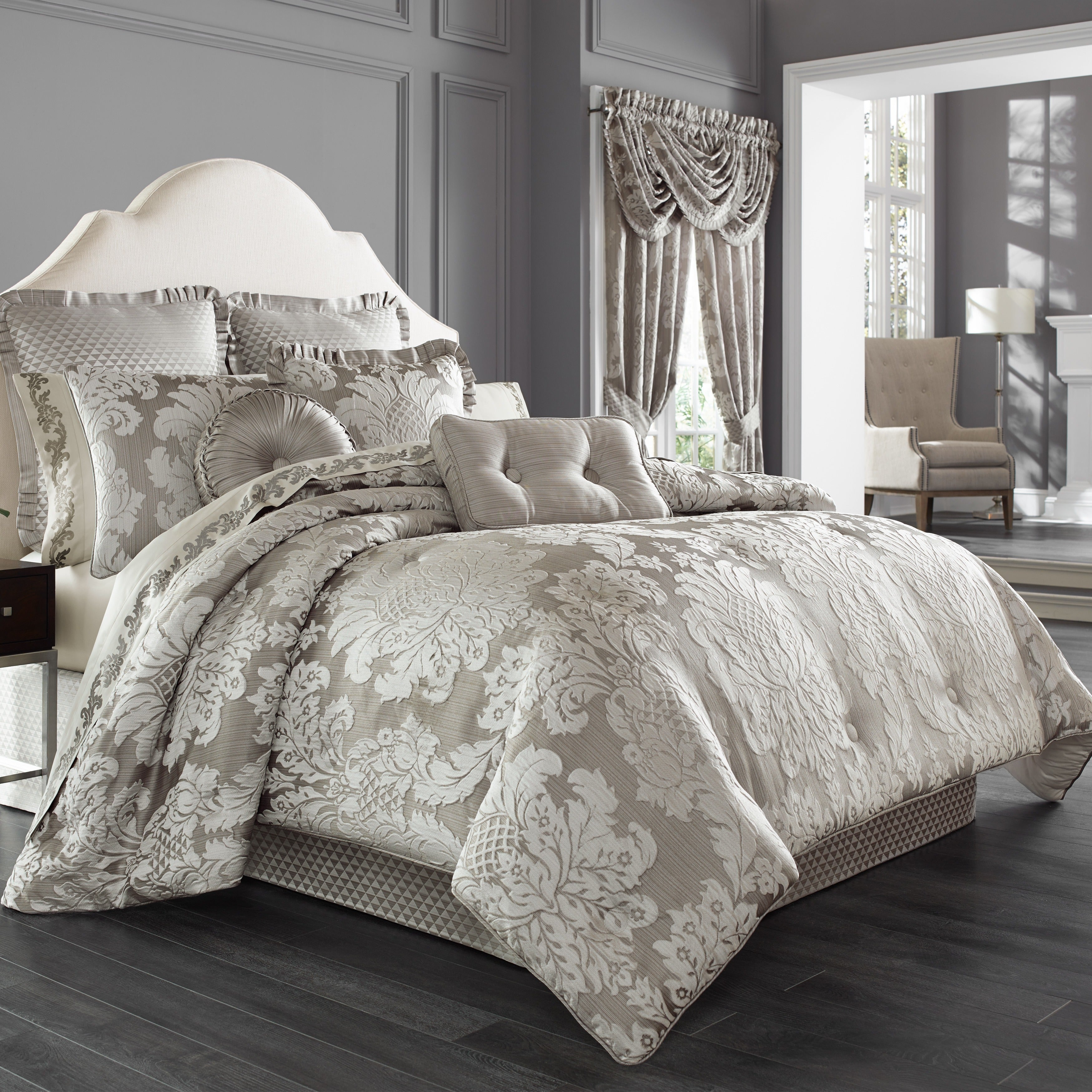 gray set p alessandra bedding j comforter smoke queen new york by