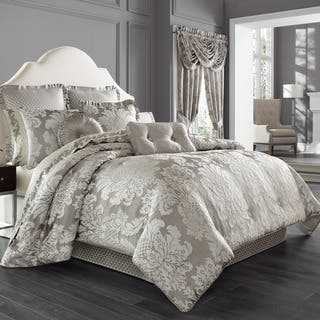 Five Queens Court Carly Woven Jacquard 4-piece Comforter Set|https://ak1.ostkcdn.com/images/products/13219340/P19937365.jpg?impolicy=medium