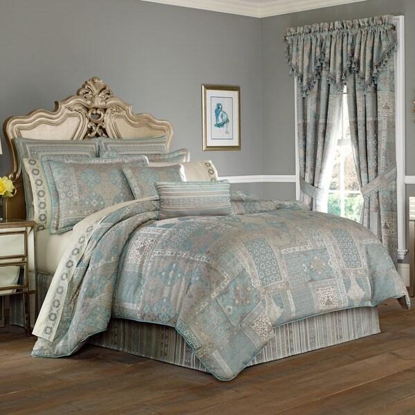 Five Queens Court Abigail Woven Jacquard 4-piece Comforter Set