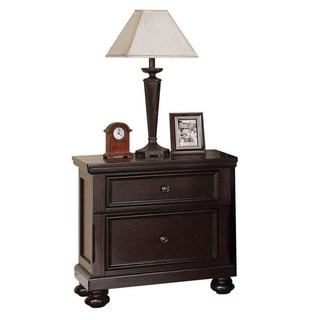 Acme Furniture Greyson 2-drawer Dark Walnut Pine/MDF/Veneer Nightstand