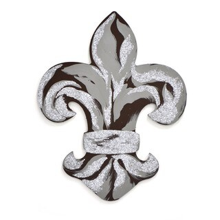 Letter2Word Fleur De Lis Black/Gold PVC Dimensional Decor
