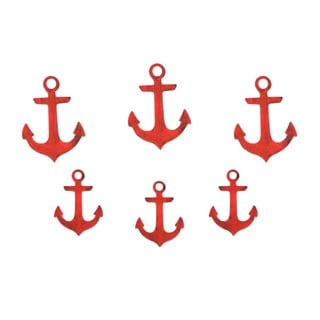 Letter2Word Anchors 6 Pack Red PVC Wall Decor