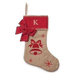 Burlap and Cotton Personalized Bell Stocking|https://ak1.ostkcdn.com/images/products/13219417/P19937482.jpg?impolicy=medium