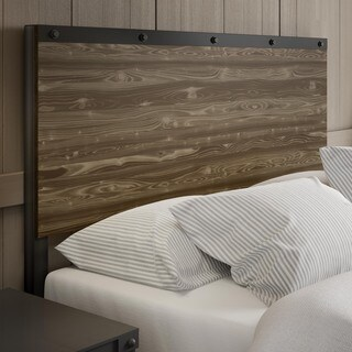 Amisco Winkler Full Size Metal Headboard with Wood