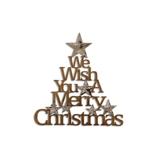 Letter2Word 'We Wish You A Merry Christmas' Multicolored PVC Dimensional Decor