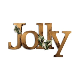 Letter2Word Jolly PVC Dimensional Seasonal Decor