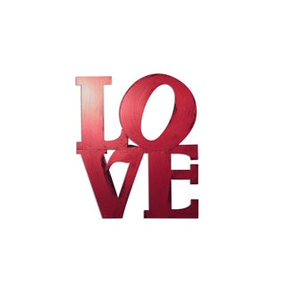 Letter2Word 'Love' PVC Stacked Dimensional Decor