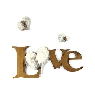 Letter2Word 'Love with Hearts' Dimensional Words Wall Decor