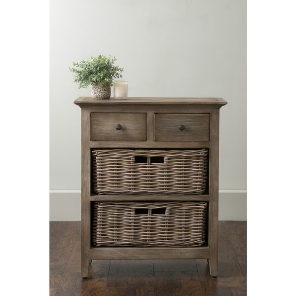 East At Main X27 S Stratton Brown Rattan Nightstand