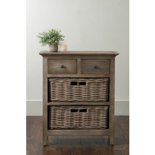 East At Main's Stratton Brown Rattan Nightstand