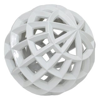 Three Hands Resin Orb - Shiny White