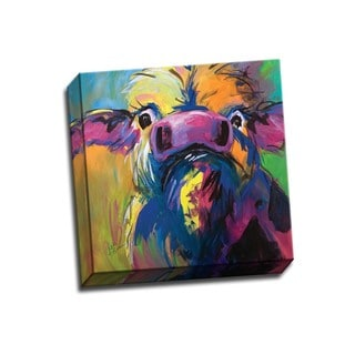 Picture It on Canvas 'Colorful Cow' 12x12 Wrapped Canvas